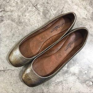 Lucky Brand {gunmetal} ballet toe flats